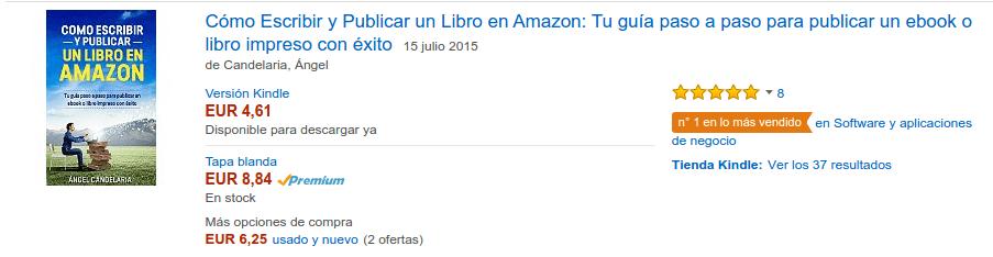 evidencia bestseller amazon