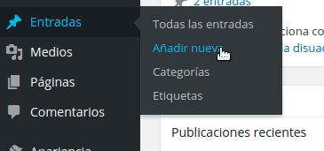 crear nueva entrada en wordpress