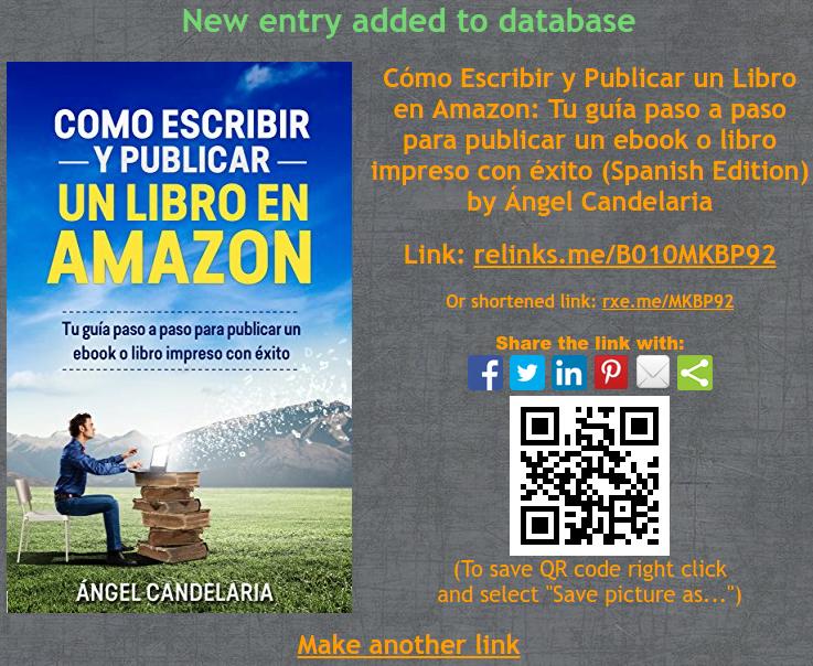 enlace y código qr a mi libro como publicar en amazon relinks.me