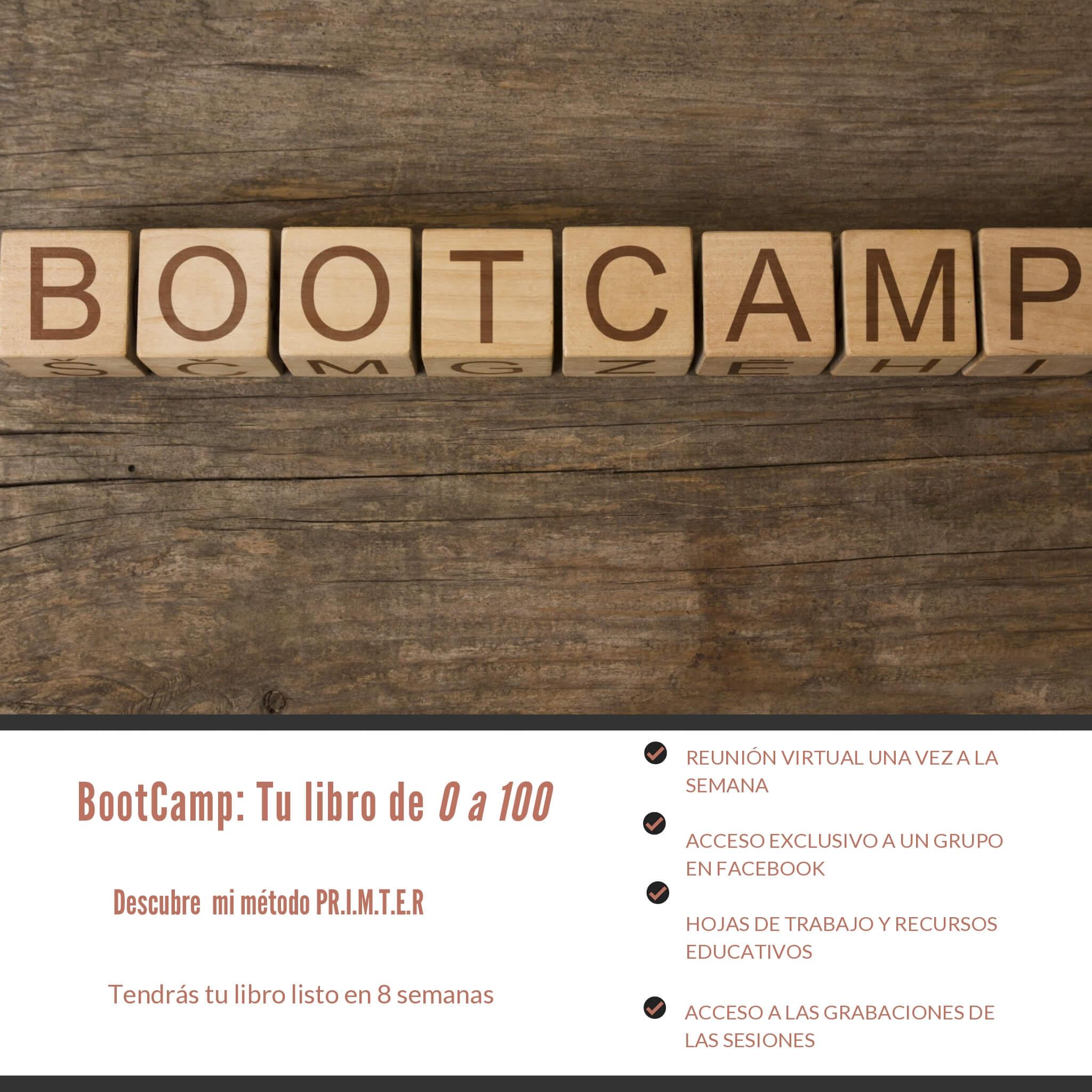 bootcamp para escribir tu borrador